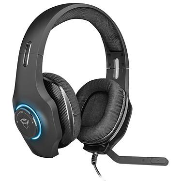 Trust Gaming GXT 455 Torus Casque-micro gamer - circum-aural fermé - son stéréo - microphone repliable - Jack 3.5mm/USB - rétro-éclairage RGB