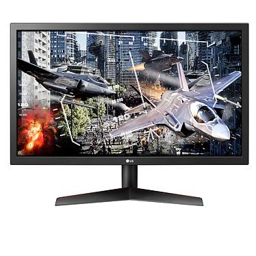 """LG 24"""" LED - 24GL600F-B 1920 x 1080 pixels - 1 ms - Dalle TN - 16/9 - 144 Hz - FreeSync - DisplayPort/HDMI - Noir/Rouge"""