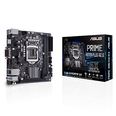 ASUS PRIME H310I-PLUS R2.0 Carte mère Mini ITX Socket 1151 Intel H310 Express - 2x DDR4 - SATA 6Gb/s + M.2 - USB 3.0 - 1x PCI-Express 3.0 16x