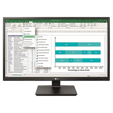 "LG 27"" LED 27BK550Y-B 1920 x 1080 pixels - 5 ms - Format large 16/9 - Dalle IPS - DVI/VGA/DisplayPort/HDMI - Noir"