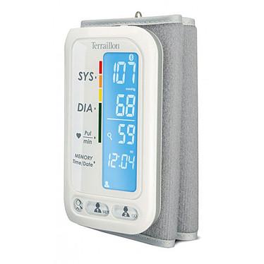 Terraillon TensioSmart Tensiómetro de presión arterial conectado por Bluetooth - Medición de la presión arterial y la frecuencia cardíaca - Compatible con iOS y Android - 15 días de duración de la batería