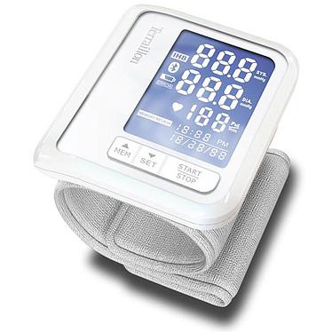 Terraillon Tensio Tensiomètre connecté Bluetooth - Mesure de la tension et du rythme cardiaque - Compatible iOS et Android