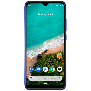 """Xiaomi Mi A3 Bleu (4 Go / 64 Go) Smartphone 4G-LTE Dual SIM - Snapdragon 665 Octo-Core 2.0 GHz - RAM 4 Go - Ecran tactile AMOLED 6.08"""" 720 x 1560 - 64 Go - Bluetooth 5.0 - 4030 mAh - Android 9.0"""