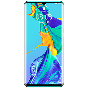 "Huawei P30 Pro Bleu Aurore (8 Go / 256 Go) Smartphone 4G-LTE Advanced IP68 Dual SIM - Kirin 980 Octo-Core 2.6 GHz - RAM 8 Go - Ecran tactile OLED 6.47"" 1080 x 2340 - 256 Go - NFC/Bluetooth 5.0 - 4200 mAh - Android 9.0"