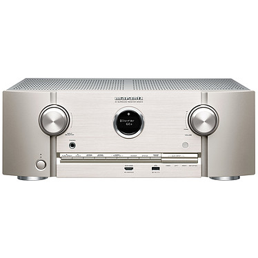 Marantz SR5014 Argent/Or Ampli-tuner Home Cinema 3D Ready 7.2 - 180W/canal - Dolby Atmos/DTS:X - Virtualisation Surround - 8x HDMI 4K UHD, HDCP 2.3 - HDR10/HLG/Dolby Vision - Multiroom - Wi-Fi/Bluetooth/DLNA/AirPlay 2 - Amazon Alexa/Google Assistant