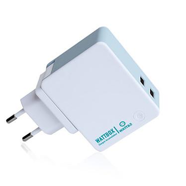 WATT&CO WATTBOX Chargeur mural USB-A avec fonction Powerbank (capacité de 2600 mAh) - Prises UE, USA et UK fournies