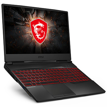 "MSI GL65 9SD-224XFR Intel Core i7-9750H 16 Go SSD 512 Go 15.6"" LED Full HD 120 Hz NVIDIA GeForce GTX 1660 Ti 6 Go Wi-Fi AC/Bluetooth Webcam FreeDOS"