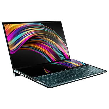 "ASUS ZenBook Pro Duo UX581GV-H2002T Intel Core i7-9750H 16 Go SSD 1 To 15.6"" OLED Tactile Ultra HD HDR NVIDIA GeForce RTX 2060 6 Go ScreenPad Plus Wi-Fi AX/Bluetooth Webcam Windows 10 Famille 64 bits"