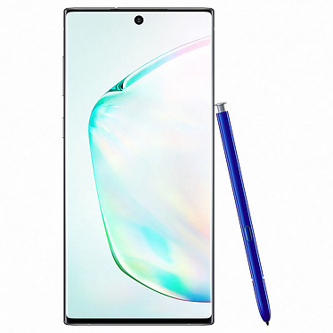 "Samsung Galaxy Note 10 SM-N970 Argent Stellaire (8 Go / 256 Go) Smartphone 4G-LTE Advanced IP68 Dual SIM - Exynos 9825 8-Core 2.7 Ghz - RAM 8 Go - Ecran tactile 6.3"" 1080 x 2280 - 256 Go - NFC/Bluetooth 5.0 - 3500 mAh - Android 9.0"