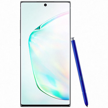 "Samsung Galaxy Note 10+ SM-N975 Argent Stellaire (12 Go / 256 Go) Smartphone 4G-LTE Advanced IP68 Dual SIM - Exynos 9825 8-Core 2.7 Ghz - RAM 12 Go - Ecran tactile 6.8"" 1440 x 3040 - 256 Go - NFC/Bluetooth 5.0 - 4300 mAh - Android 9.0"
