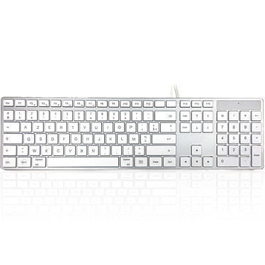 Accuratus 301 MAC Clavier filaire - Compatible Mac OS uniquement - Interface USB (AZERTY, Français)