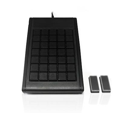 Accuratus S35A Pavé numérique USB - 35 touches programmables - Interrupteurs mécaniques noirs (switches Cherry MX Black) - Windows XP/Vista/7/8/10