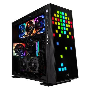 IN WIN 309 Boîtier Moyen Tour avec panneau latéral en verre trempé et rétroéclairage RGB avancé - Noir
