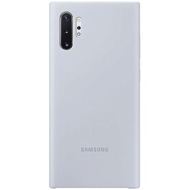 Samsung Coque Silicone Argent Galaxy Note 10+ Coque en silicone pour Samsung Galaxy Note 10+