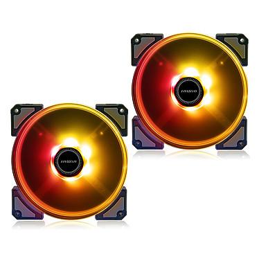 IN WIN Crown AC140 Pack de 2 Ventilateurs de boîtier 140 mm à haute pression statique et rétroéclairage ARGB