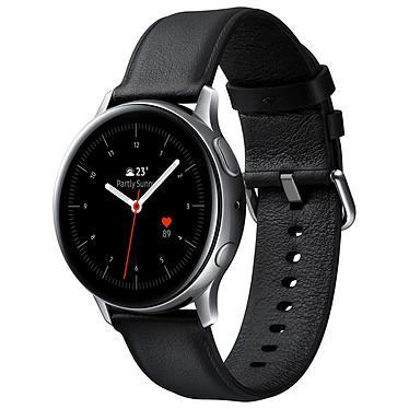 """Samsung Galaxy Watch Active 2 (40 mm / Acier / Argent Glacier) Montre connectée - 40 mm - acier - certifiée IP68 - RAM 768 Mo - écran Super AMOLED 1.2"""" - 4 Go - NFC/Wi-Fi/Bluetooth 5.0 - 247 mAh - Tizen OS 4.0"""