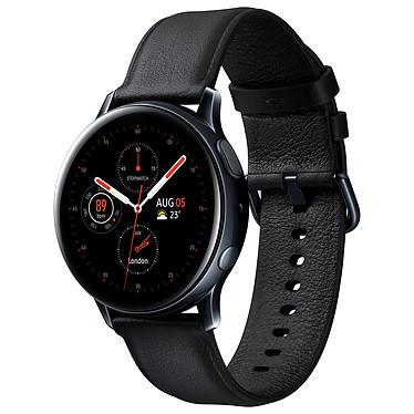 """Samsung Galaxy Watch Active 2 (40 mm / Acier / Noir Diamant) Montre connectée - 40 mm - acier - certifiée IP68 - RAM 768 Mo - écran Super AMOLED 1.2"""" - 4 Go - NFC/Wi-Fi/Bluetooth 5.0 - 247 mAh - Tizen OS 4.0"""