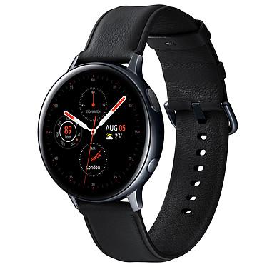 """Samsung Galaxy Watch Active 2 (44 mm / Acier / Noir Diamant) Montre connectée - 44 mm - acier - certifiée IP68 - RAM 768 Mo - écran Super AMOLED 1.4"""" - 4 Go - NFC/Wi-Fi/Bluetooth 5.0 - 340 mAh - Tizen OS 4.0"""