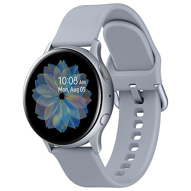 "Samsung Galaxy Watch Active 2 (40 mm / Aluminio / Azul grisáceo) Reloj conectado - 40 mm - aluminio - certificado IP68 - RAM 768 MB - pantalla Super AMOLED 1.2"" - 4 GB - NFC/Wi-Fi/Bluetooth 5.0 - 247 mAh - Tizen OS 4.0"