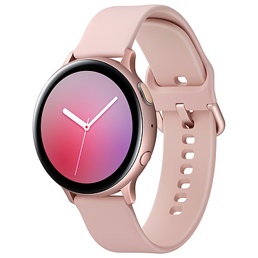"Samsung Galaxy Watch Active 2 (44 mm / Aluminium / Rose Velours) Montre connectée - 44 mm - aluminium - certifiée IP68 - RAM 768 Mo - écran Super AMOLED 1.4"" - 4 Go - NFC/Wi-Fi/Bluetooth 5.0 - 340 mAh - Tizen OS 4.0"