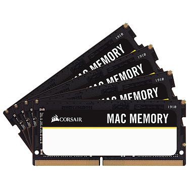 Corsair Mac Memory SO-DIMM 64 Go (4x 16 Go) DDR4 2666 MHz CL18