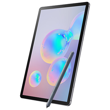 "Samsung Galaxy Tab S6 10.5"" SM-T865 256 Go Gris 4G Tablette Internet 4G LTE Advanced - Snapdragon 855 Octo-Core 2.8 GHz - RAM 8 Go - 256 Go - Écran Super AMOLED 10.5"" - Wi-Fi/Bluetooth - Webcam - 7040 mAh - Android 9.0"