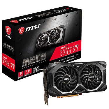 MSI Radeon RX 5700 XT MECH OC 8 Go GDDR6 - HDMI/Tri DisplayPort - PCI Express (AMD Radeon RX 5700 XT)