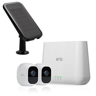 Arlo Pro 2 VMS4230P + Panneau Solaire VMA4600 Système de sécurité sans fil avec 2 caméras HD 1080p, fonction audio, vision nocturne et conception étanche + Panneau solaire pour caméra Arlo Go et Arlo Pro