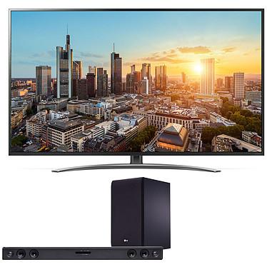 "LG 55SM8600 + SJ3 Téléviseur LED 4K Ultra HD 55"" (140 cm) 16/9 - 3840 x 2160 pixels - Ultra HD 2160p - HDR - Wi-Fi - Bluetooth - DLNA (Dalle native 100 Hz) + Barre de son 2.1 300 Watts"