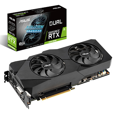 ASUS GeForce RTX 2060 SUPER DUAL-RTX2060S-8G-EVO 8 Go GDDR6 - Dual HDMI/Dual DisplayPort/DVI - PCI Express (NVIDIA GeForce RTX 2060 SUPER)