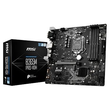 MSI B365M PRO-VDH Carte mère Micro ATX Socket 1151 Intel B365 Express - 4x DDR4 - SATA 6Gb/s + M.2 - USB 3.0 - 1x PCI-Express 3.0 16x