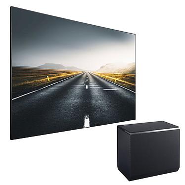 Panasonic TX-100FP1E + Lumene Movie Palace UHD 4K Extrabright 240C Vidéoprojecteur DLP Full HD - 2700 Lumens - Focale ultra-courte - Wi-Fi/Bluetooth/DLNA - HDMI/USB - Haut-parleurs 32 Watts + Ecran fixe sur cadre - Format 16:9 - 221 x 125 cm - Toile ALR