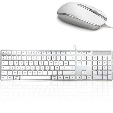 Accuratus MAC Desktop Ensemble clavier/souris filaires - Compatible Mac OS uniquement - Interface USB (AZERTY, Français)