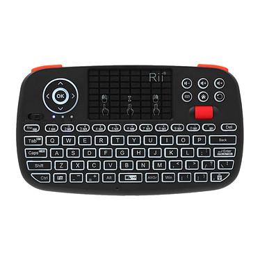 Riitek i4 Mini Clavier sans fil - Interface tactile avec boutons de souris intégrés - Interface Bluetooth 4.0 - (AZERTY, Français)