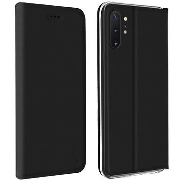 Akashi Etui Folio Porte Carte Noir Samsung Galaxy Note 10+ Etui folio avec porte carte pour Samsung Galaxy Note 10+