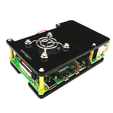 Boitier pour Raspberry Pi 4B (Noir) Boîtier en plastique pour carte Raspberry Pi 4B
