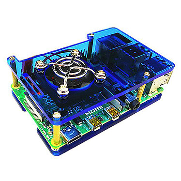 Boitier pour Raspberry Pi 4B (Bleu) Boîtier en plastique pour carte Raspberry Pi 4B
