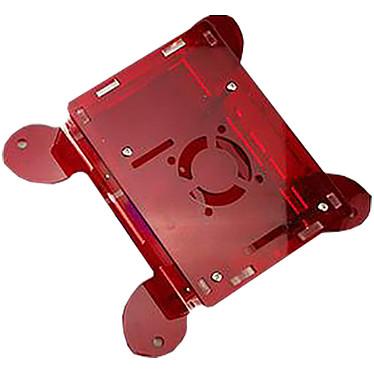 Boitier VESA pour Raspberry Pi 4B (Rouge) Boîtier en plastique compatible VESA pour carte Raspberry Pi 4B