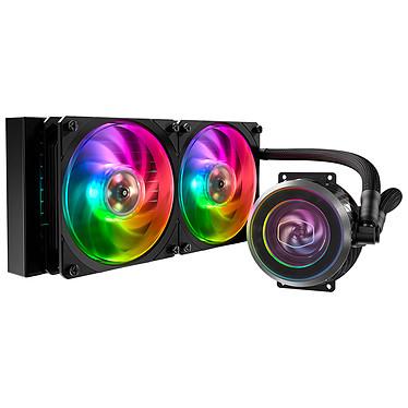 Cooler Master MasterLiquid ML240P Mirage Kit de Watercooling RGB todo en uno para procesador (zócalo Intel LGA2066, LGA2011-v3, LGA2011, LGA2011, LGA1151, LGA1150, LGA1155, LGA1156, LGA1366, LGA775, zócalo AMD TR4, AM4, AM3, AM3, AM2, AM2, AM2, FM2, FM2, FM2, FM2)