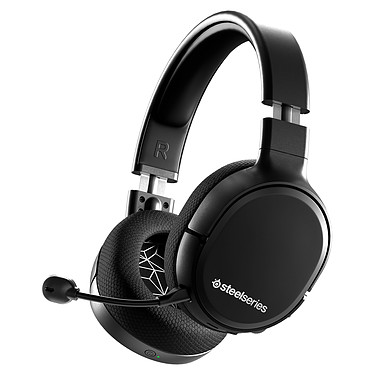 SteelSeries Arctis 1 Wireless (noir) Casque gaming sans fil - Circum-aural fermé - Microphone détachable avec suppression du bruit - USB-C/Jack - Compatible PC/PlayStation 4/Android
