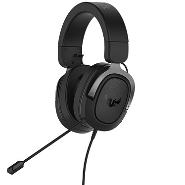 ASUS TUF Gaming H3 (Gris) Casque-micro filaire pour gamer (compatible PC / Mac / PS4 / Xbox 360 / Switch)
