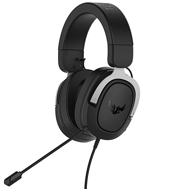 ASUS TUF Gaming H3 (Argent) Casque-micro filaire pour gamer - Son Surround 7.1 - Compatible PC / Mac / PS4 / Xbox 360 / Switch