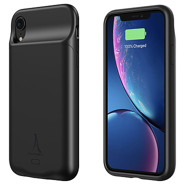 Akashi Coque Batterie Sans Fil Noire iPhone XR Coque batterie à induction 4500 mAh pour iPhone XR