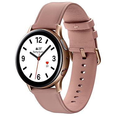 """Samsung Galaxy Watch Active 2 4G (40 mm / Acier / Rose Lumière) Montre connectée 4G - 40 mm - acier - certifiée IP68 - RAM 1.5 Go - écran Super AMOLED 1.2"""" - 4 Go - NFC/Wi-Fi/Bluetooth 5.0 - 247 mAh - Tizen OS 4.0"""