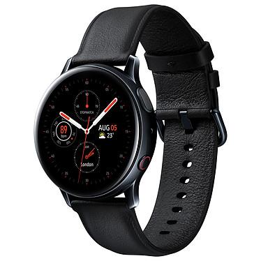 """Samsung Galaxy Watch Active 2 4G (40 mm / Acier / Noir Diamant) Montre connectée 4G - 40 mm - acier - certifiée IP68 - RAM 1.5 Go - écran Super AMOLED 1.2"""" - 4 Go - NFC/Wi-Fi/Bluetooth 5.0 - 247 mAh - Tizen OS 4.0"""