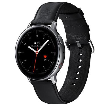 """Samsung Galaxy Watch Active 2 4G (44 mm / Acier / Argent Glacier) Montre connectée 4G - 44 mm - acier - certifiée IP68 - RAM 1.5 Go - écran Super AMOLED 1.4"""" - 4 Go - NFC/Wi-Fi/Bluetooth 5.0 - 340 mAh - Tizen OS 4.0"""