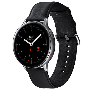 "Samsung Galaxy Watch Active 2 4G (44 mm / Acero / Plata Glaciar) Reloj conectado 4G - 44 mm - acero - certificado IP68 - RAM 1.5 GB - pantalla Super AMOLED 1.4"" - 4 GB - NFC/Wi-Fi/Bluetooth 5.0 - 340 mAh - Tizen OS 4.0"