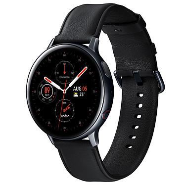 """Samsung Galaxy Watch Active 2 4G (44 mm / Acier / Noir Diamant) Montre connectée 4G - 44 mm - acier - certifiée IP68 - RAM 1.5 Go - écran Super AMOLED 1.4"""" - 4 Go - NFC/Wi-Fi/Bluetooth 5.0 - 340 mAh - Tizen OS 4.0"""