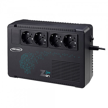 Infosec Z3 Zen Live 500 Convertidor de alta frecuencia 500 VA con 4 enchufes Schuko