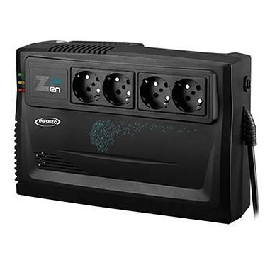 Infosec Z3 Zen Live 800 Convertidor de alta frecuencia 800 VA con 4 enchufes Schuko